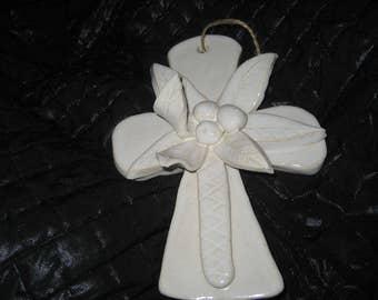 Hand Built Pottery Hurricane Cross