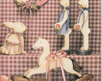 Country Style Wood Cut Out Patterns Bunny Rocking Horse Hearts Country Accents Lady Rabbits Wood Cut Out  Pattern Book by Country Club Book1