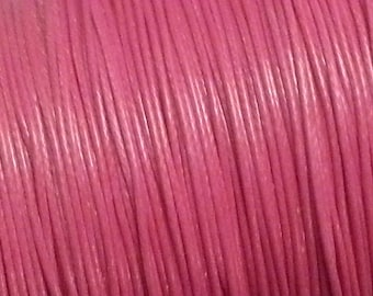 waxed polyester cord 6 m rose 0.8 mm