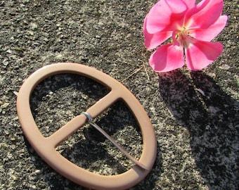 Belt buckle vintage new acrylic 90 x 65 mm