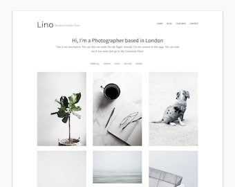 Lino - Wordpress Portfolio Theme - Premade - Self Hosted - Wordpress Theme for Creatives - Responsive