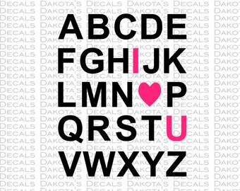 ABC I love you SVG for Download