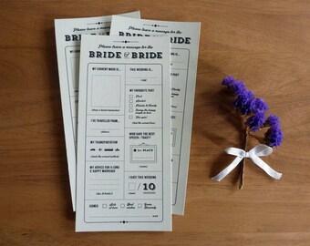 Printable Groom & Groom Wedding Table Quiz or Survey