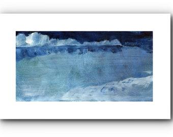 Original, miniature landscape, expressive, 9 x 17.5 cm