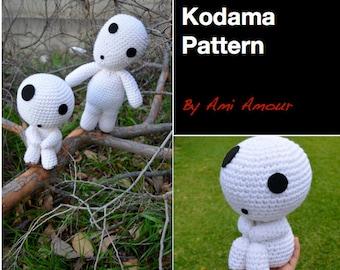 Kodama amigurumi pattern crochet