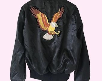 Bomber Jacket / Eagle Patch in Front & Back