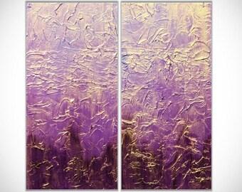 Abstract Painting Abstract Art Purple Wall Art Acrylic Painting Large Wall Art Original Painting Wall Art Wall Decor Textured Canvas Art