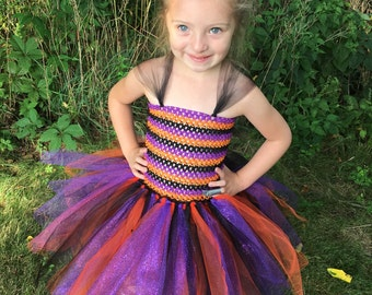 Girls Witch Tulle Tutu Party Dress Halloween/Costume