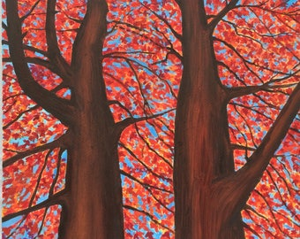 Autumn Trees Art Prints and Original Oil Painting