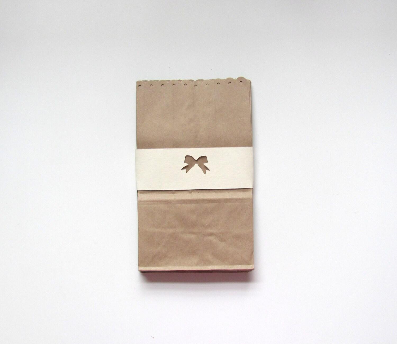 10 Popcorn Bar Candy Buffet Bag Kraft Paper Medium with Eyelet Edges ...