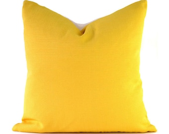 Outdoor Pillows Outdoor Pillow Covers Decorative Pillows ANY SIZE Pillow Cover Yellow Pillow Richloom Outdoor Forsythe Soleil