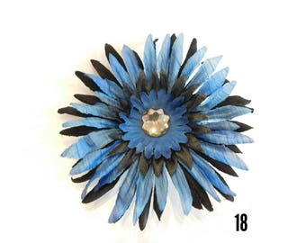 Beautiful Blue and Black Hair Flower