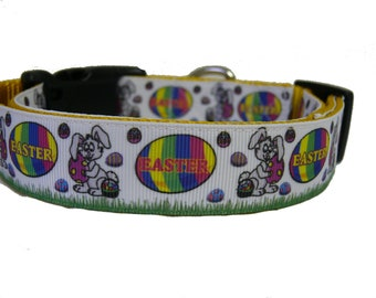 Happy Easter,  Bunny, Egg Dog Collar, Dog Gift, Puppy, Pet Gift, Spring, Rabbit