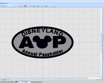 DISNEYLAND Annual Passholder Patch - iron-on