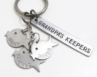 Father's Day Gift, Fishing Gift, Personalized Keychain, Fish Keychain, Grandpa Gift, Personalized Gift for Dad, Dad Gift, Grandpa Keychain