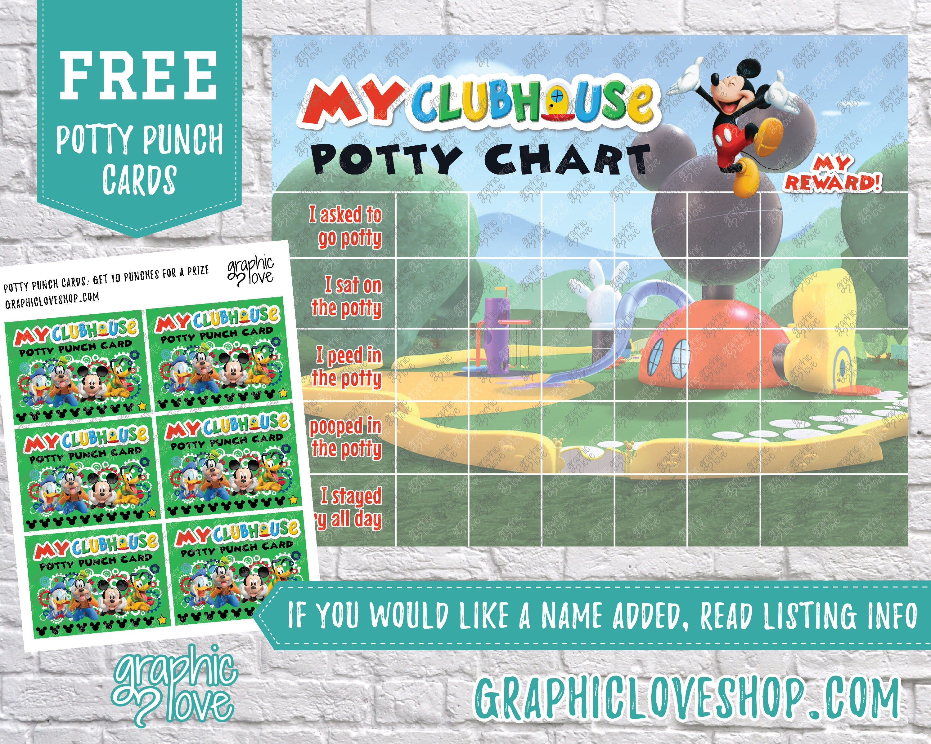 mickey mouse potty chart