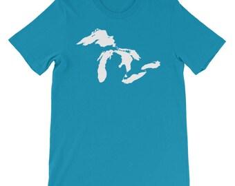 The Five Great Lakes T-Shirt | Michigan State | Michigander | Lake Huron | Lake Superior | Lake Erie | Lake Ontario | Upper Peninsula