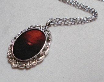 Horizon Necklace Pendant Sunset Necklace Sunrise Jewelry  Black And Red