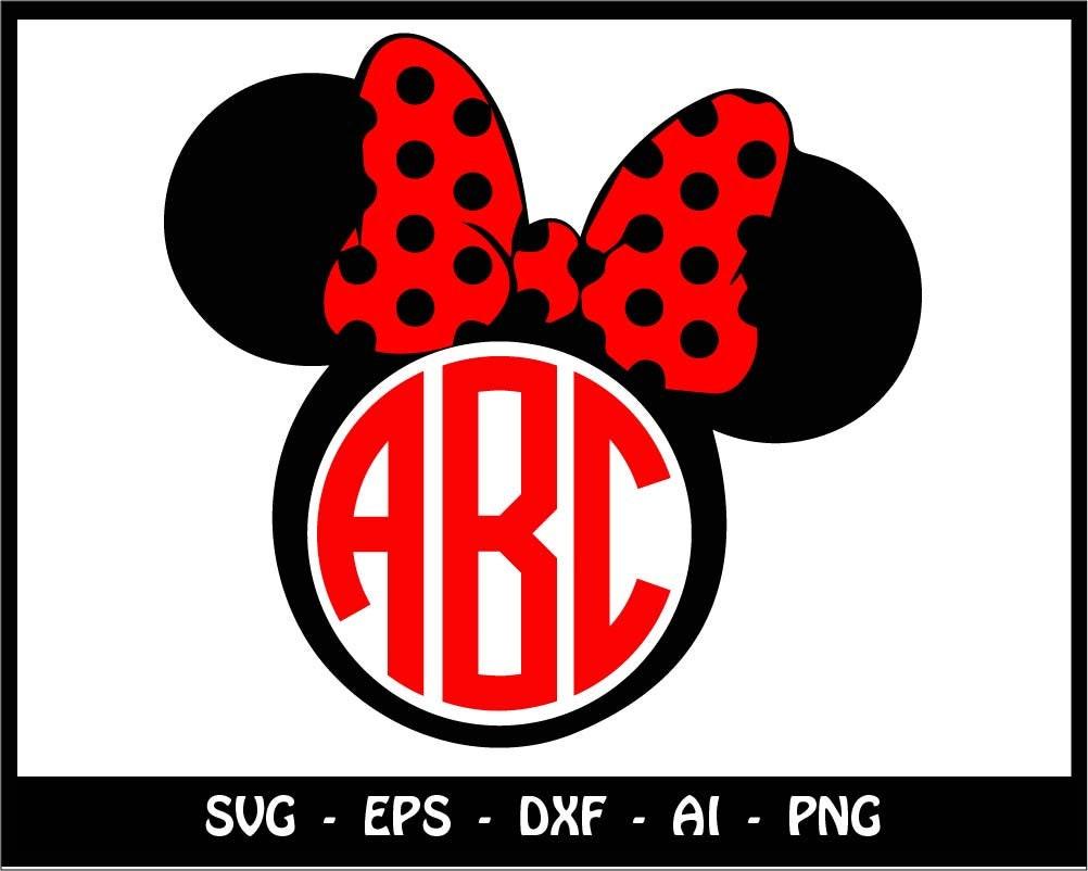 Minnie mouse head svg monogram svg disney svg we do disney zoom biocorpaavc
