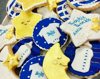 Twinkle Twinkle Little Star Babyshower Cookie / Cupcake Toppers