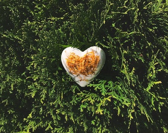 Heart shaped bath bomb all organic and natural handmade