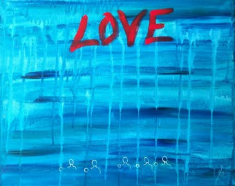 Add Some Love-16x20-original painting-
