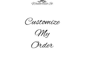 Customize ONE Digital Download Listing.