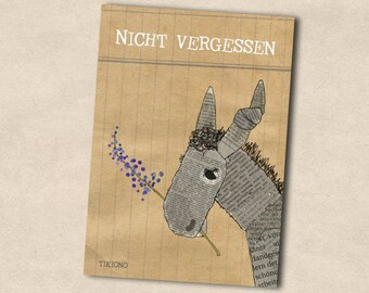 Post card donkey