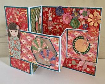 Shaped Kimono Card