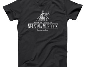 Nelson And Murdock Law Firm Funny Comic Humor Basic Men's T-Shirt DT1128