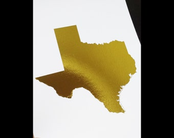 Oops Item - 8x10 Print - State of Texas - USA