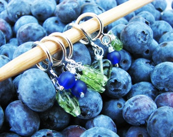 Wild Blueberries Non-Snag Stitch Markers
