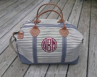 Weekender Bag with Monogram, Weekender Bag, Canvas Duffle Bag, Embroidered Duffle Bag, Monogram Weekender Bag, 8 Weekender Bag Colors
