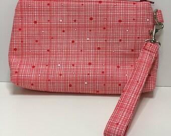 Project bag, zipper bag, notions bag, wristlet, clutch, bag, notions pouch