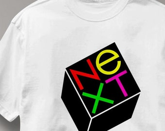 Next Computer T Shirt Vintage Logo Tee Shirt Mens Womens Ladies Youth Kids