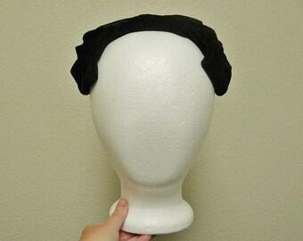 Antique Black Velvet Bow Hat