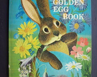 The Golden Egg Book by Margaret Wise Brown 1971 Vintage Children's Big Golden Book – Rare Cover
