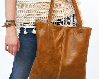 The AVERY - Leather Bag - Leather Tote - Leather Purse - Leather Laptop Bag - Leather Computer Bag - Book Bag - Womens - Mens - More Colors