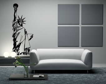 Vinyl Wall Decal Sticker NYC Statue of Liberty OSMB522m