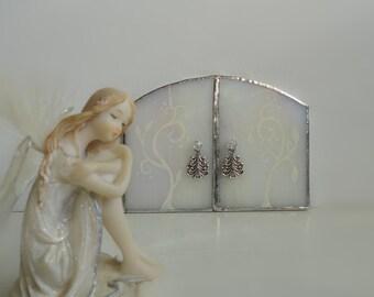 Fairy Door, Stained Glass, Iridescent, Garden Sculpture, Garden Art, Indoor Home Decor, Fairy Garden Assesories, Terrarium, Faerie Portal