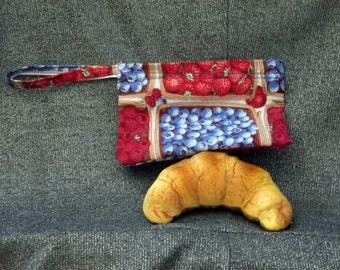 Reusable Snack Bag, Berry Baskets Print