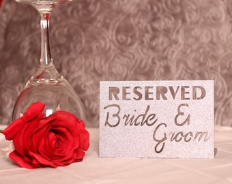 Reserved Wedding Sign - Bride And Groom - Wedding Reception Sign - Table Topper - Reserved Table Sign - Wedding Table Decor - Reception