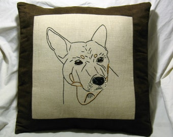 Personalized pet, Personalized Pet Pillow, Custom Pet Pillow, custom pet Portrait, custom pet photo pillow, Vizsla, Pit Bull, any image