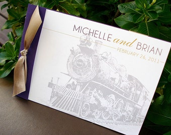 LOCO-MOTIVE Booklet Wedding Invitation - Sample