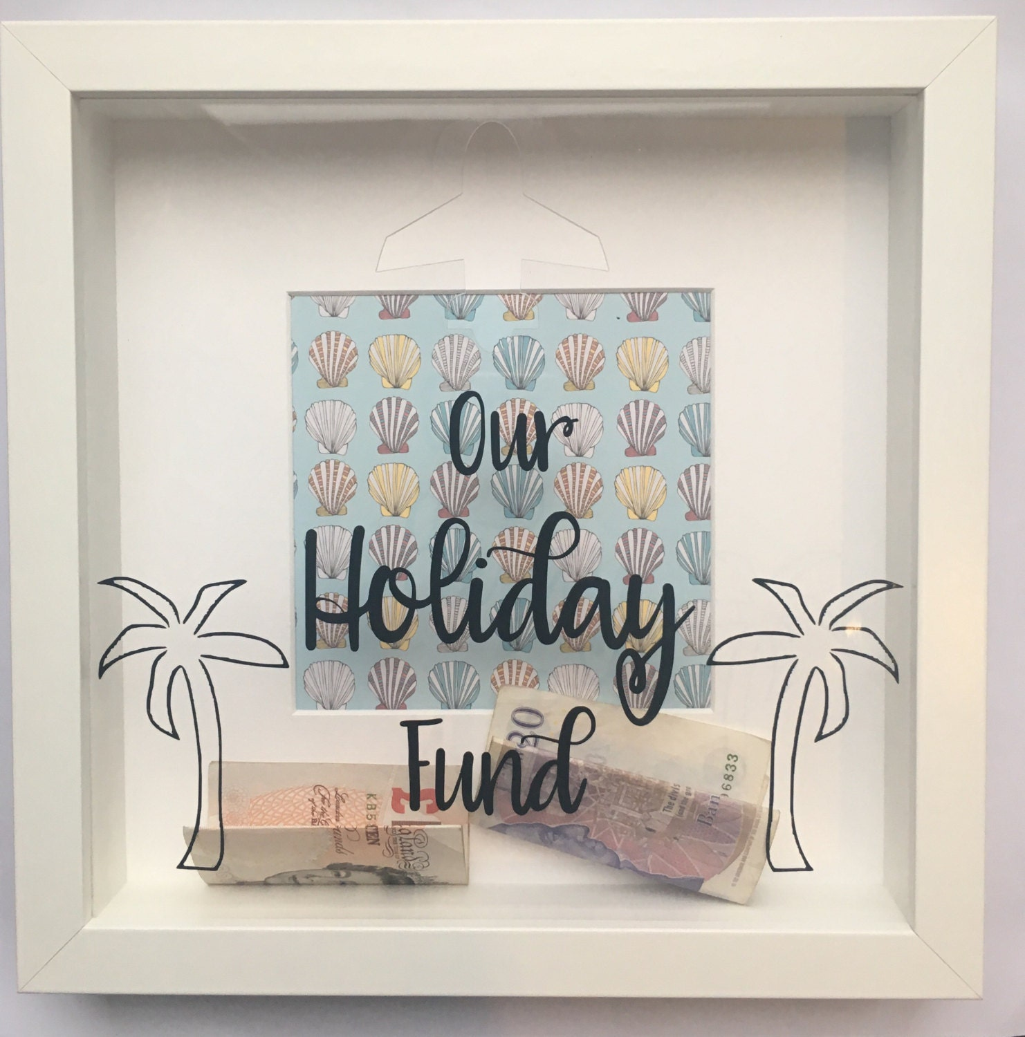 Holiday Vacation Savings Money Box Fund Frame Savings Jar