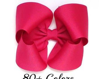 Hair Bows, Pink Hair Bows, 5 Inch Hair Bows, Toddler Hair Bows, Hair Bows for Girls, Girls Hair Bows, Large Hair Bows, Big Bows, Hairbows