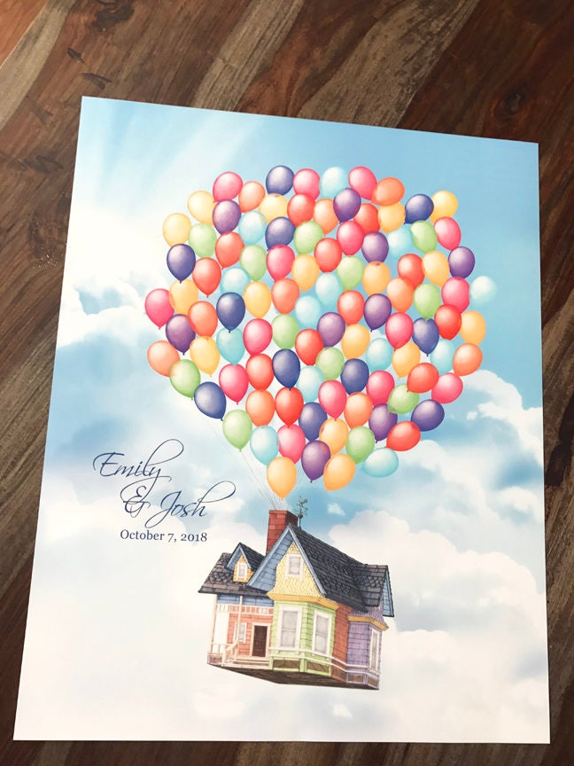 Up House Wedding Guest Book Disney Themed Wedding Guestbook