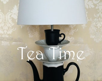Black & White teapot lamp made in Italy