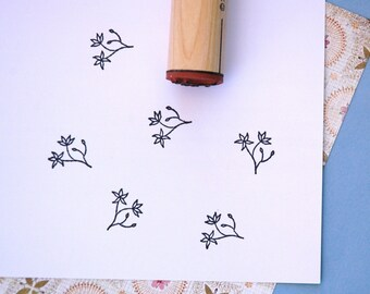 Trout Lily Rubber Stamp