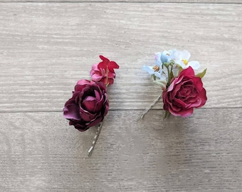 Wedding Hair Pin, Wedding Hair Comb, Silk Flower Comb, Flower Pin, Flower Hair Pin, Silk Flower Pin, Flower Comb, Wedding Comb, Wedding Pin